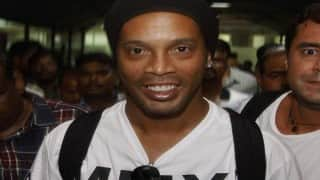 Ronaldinho arrives in city for Premier Futsal