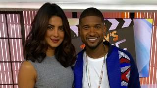 Priyanka Chopra meets American singer Usher