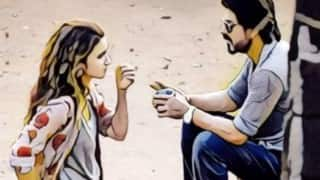 Dear Zindagi first look out: Shah Rukh Khan & Alia Bhatt have an interesting Prisma conversation on Twitter!