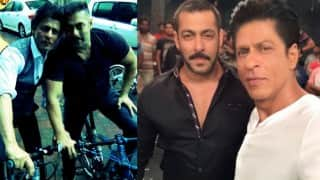 Shah Rukh Khan and Salman Khan enjoy bike ride together!