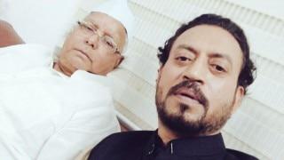 Irrfan Khan shares 'bawaal' selfie with RJD chief Lalu Prasad
