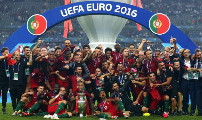 Image result for Portuguese National Team win Euro 2016