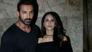 Dishoom special screening: This picture of John Abraham with Priya Runchal ends divorce rumours