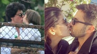 Cute liplocks! Shah Rukh Khan with son AbRam Khan & Shahid Kapoor with wife Mira Rajput!