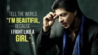 Shah Rukh Khan recited a poem celebrating spirit of girls and it is inspiring in all sense!