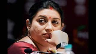 Smriti Irani reacts after being removed as HRD Minister