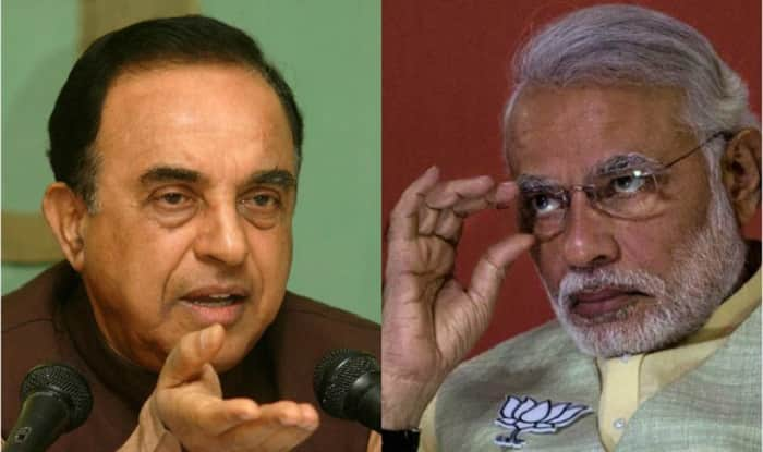 Image result for Subramanian Swamy said to modi