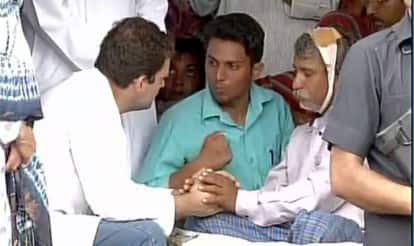 Rahul Gandhi meets kin of Dalit youth who were beaten in Una