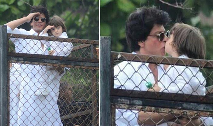 Eid special: OH wow! Shah Rukh Khan and son AbRam greeting fans together makes for the cutest pic of the day!