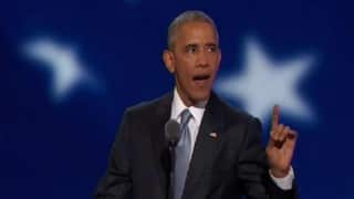 Barack Obama fires up Hillary Clinton's campaign at Democratic National Convention
