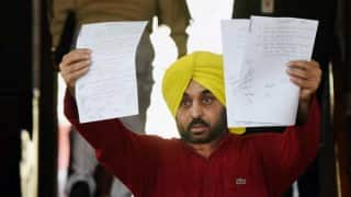 'Send alcoholic Bhagwant Mann to rehab', MPs write to LS Speaker Sumitra Mahajan
