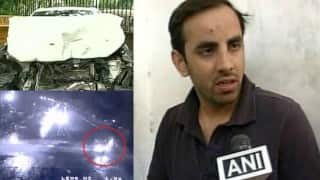 CCTV: Rajasthan MLA's son caught on camera ramming down 3 under his BMW in Jaipur