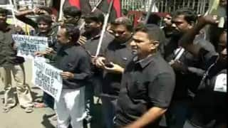 Chennai: Regional party protests against sale of Gangajal