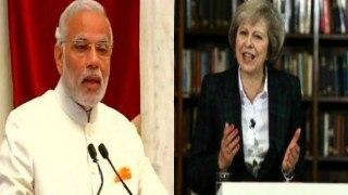 Prime Minister Narendra Modi speaks to new British Prime Minister Theresa May