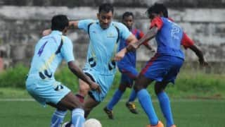 MS Dhoni's displays his love for his first sport football in a match in his home state Jharkhand