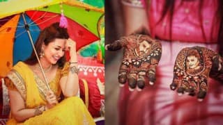 Divyanka Tripathi' pre-wedding photos: Bride's Haldi and Mehendi ceremony pictures are lovely!