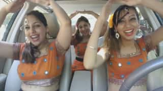 These three girls dancing in a car to tribute Madhuri Dixit will take you through a time scroll