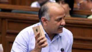 Manish Sisodia meets Najeeb Jung after returning from Finland