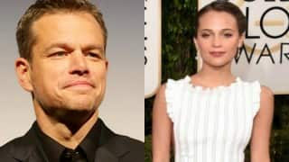 Matt Damon thinks Alicia Vikander is everyone's favourite