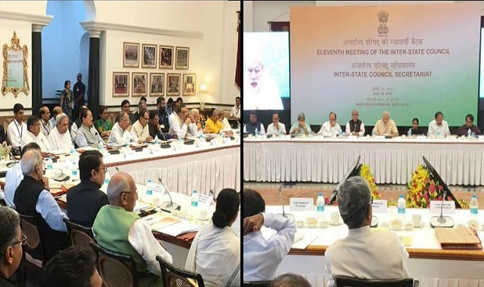 Inter state council meeting on saturday after 10 years