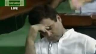 Rahul Gandhi caught sleeping in Lok Sabha. AGAIN! (Watch video)