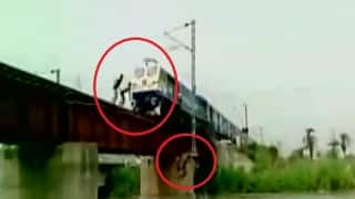 This video of teenagers dodging death on railway track will leave you stunned