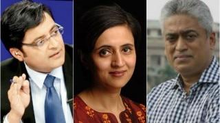 Arnab Goswami takes jibe at Sagarika Ghose. Husband Rajdeep Sardesai gives befitting reply