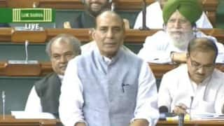 Rajnath Singh in Lok Sabha: Do not politicize Dalits' issues