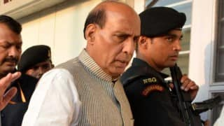 AAP protests near Rajnath Singh's house over women's safety