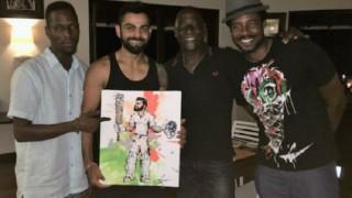 Vivian Richards son captures Virat Kohli's knock in painting