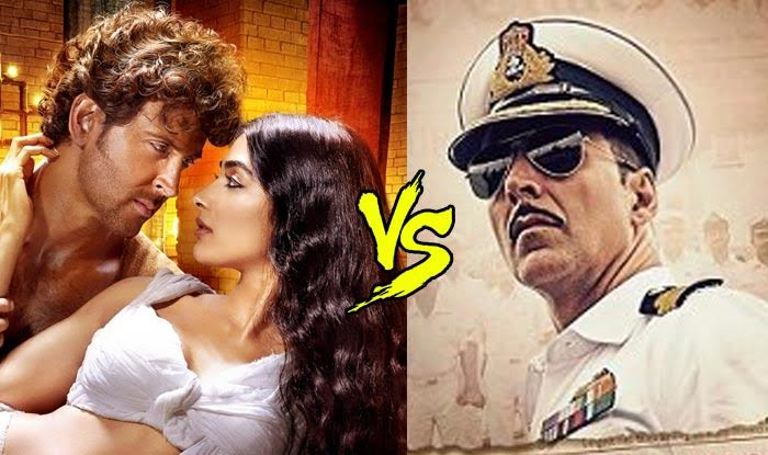 Rustom Vs Mohenjo Daro Box Office report: Akshay Kumar beats Hrithik Roshan hands down!