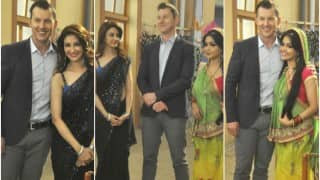 Bhabi Ji Ghar Par Hain: Brett Lee gets Hindi lessons from Shubhangi Atre & Saumya Tandon!