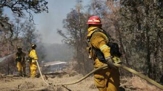 96 houses destroyed, two firefighters injured by massive wildfire in California
