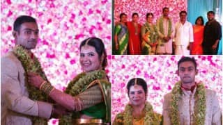 Raadhika Sarathkumar's daughter Rayane Hardy gets married to IPL team RCB player Abhimanyu Mithun!