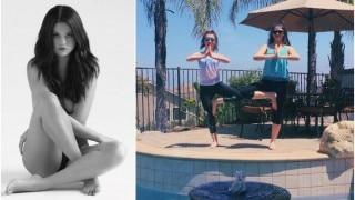 Selena Gomez enjoys yoga and exercises to keep her bottom toned!