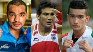 Rio Olympics 2016: Indian boxers Vikas Krishan, Manoj Kumar and Shiva Thapa face disqualification for not having 'INDIA' printed on their jerseys