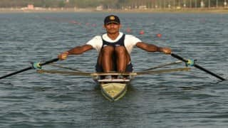 Dattu Baban Bhokanal at Olympics 2016: Finishes 3rd in Heat 1 at Rowing, reaches quarter-finals
