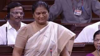 AIADMK Rajya Sabha MP M Sasikala Pushpa thanks Sonia Gandhi, Rahul Gandhi but gives no hint if she will join Congress