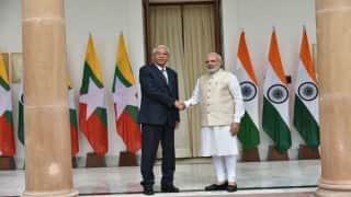 PM Narendra Modi holds talks with Myanmarese President U Htin Kyaw