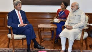 John Kerry calls on Narendra Modi; shares US' view on developments in region