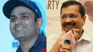 Virender Sehwag nails it again! This time it is birthday wish for Delhi chief minister Arvind Kejriwal