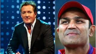 Piers Morgan provokes Virender Sehwag, says 'I bet England will win ODI World Cup before India wins an Olympic gold'