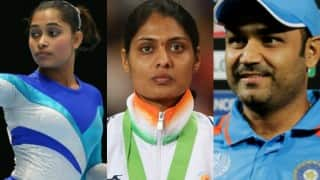 Virender Sehwag urges government to honour Dipa Karmakar, Lalita Babar