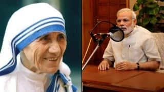Feeling proud over Mother Teresa's canonisation: Narendra Modi