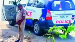 Hyderabad cop urinates in public, picture goes viral