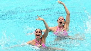 Rio Olympics 2016: Mexican pair Karem Achach-Nuria Diosdado perform to Indian beat in Synchronised Swimming
