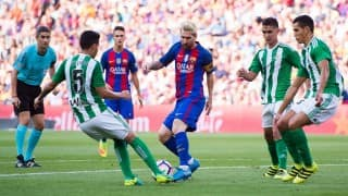 La Liga 2016: Luis Suarez, Lionel Messi start where they left off as Barcelona crush Real Betis