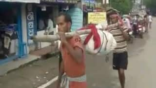 Another Odisha horror: With no vehicle available hospital worker breaks body, bundles it up, carries it on foot!