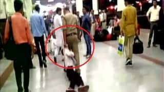 Cop caught on camera thrashing youth, dragging him at Gwalior railway station! (Watch Graphic Video)
