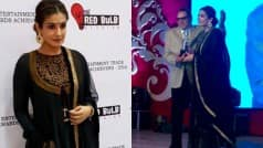 Raveena Tandon honoured to receive award from Dharmendra